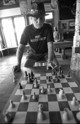 Willie at the Chessboard