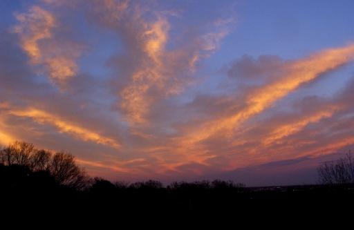 Sky opposite setting sun 2/12/03