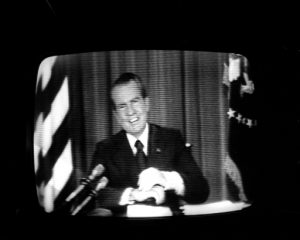 "(Nixon gives the ""I'm Not A Crook"" speech 1974)"