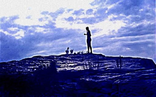 Pedernales Falls Silhouette 1972