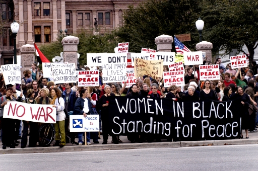 Standing For Peace!  Texas Capitol, Austin, Texas   February 15, 2003