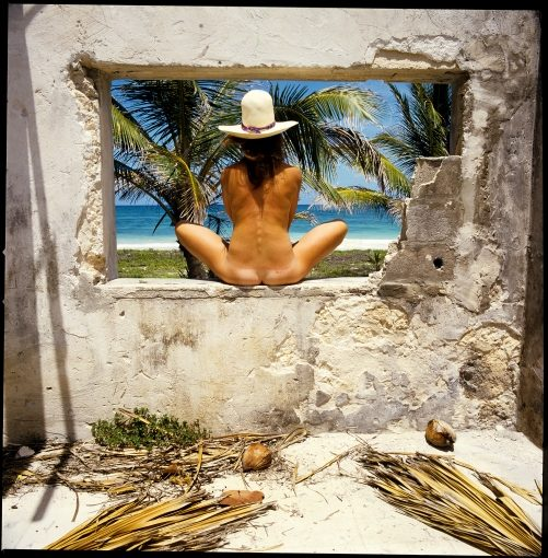 Woman in Window; near Tulum, Mexico  1987