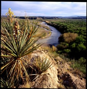 (The Border.  Rio Grande.  Big Bend National Park, Texas, 1995)