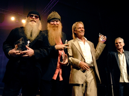 ZZ Top accepts their Texas GRAMMY Award, Nov 13 2006