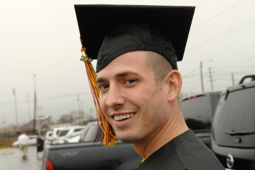 My Son, Orion Newton, graduated Texas State University today, 12/14/07…