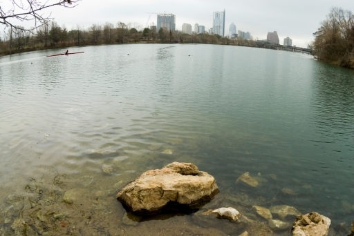 My Favorite Place–The Heart of Austin; Colorado River at Barton Creek, Austin, Tx 2-15-08