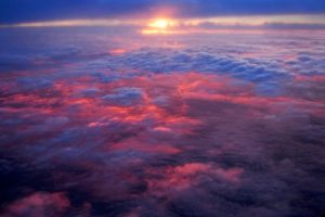 (Sunset From Airplane; Somewhere over Ohio, July 9 2008)