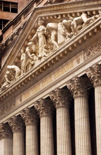 New York Stock Exchange Facade, NYC; June 26, 2004