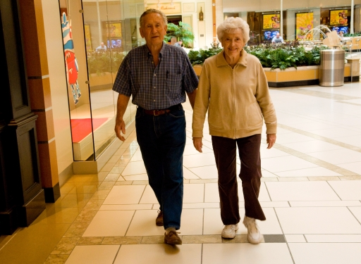 Dad and Mom Walkin' the Mall; Jan 5 2009 Tampa, Florida