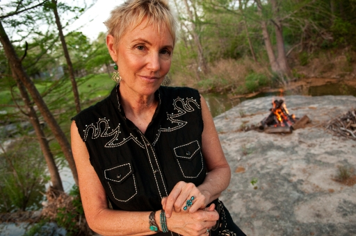 Eliza Gilkyson.  April 5 2010. Near Austin, TX